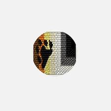 MOSAIC BEAR PRIDE FLAG DESIGN Mini Button