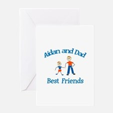 Aidan & Dad - Best Friends Greeting Card