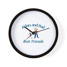 Aidan & Dad - Best Friends  Wall Clock