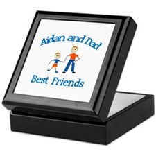 Aidan & Dad - Best Friends  Keepsake Box
