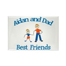 Aidan & Dad - Best Friends Rectangle Magnet