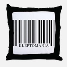 Barcode Kleptomania Throw Pillow