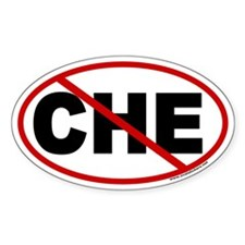 No Che! Euro Style Oval Decal