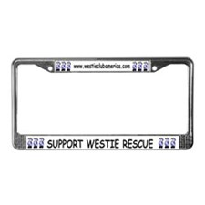 Nat'l Westie Rescue Blue Logo  License Plate Frame
