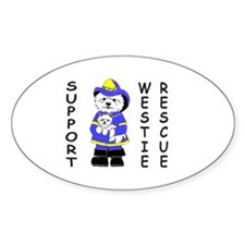 Nat'l Westie Rescue Blue Logo Oval Decal