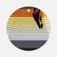 unique BEAR PRIDE FLAG DESIG Ornament (Round)