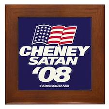 """""""Cheney-Satan '08"""" Framed Tile"""