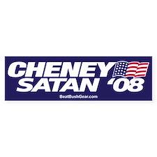 """Cheney-Satan '08"" Bumper Car Sticker"
