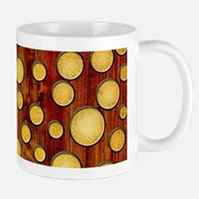 Wood and gold Mugs