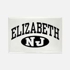 Elizabeth New Jersey Rectangle Magnet
