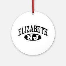 Elizabeth New Jersey Ornament (Round)