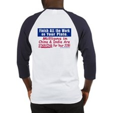Anti JOB OUTSOURCING Baseball Jersey
