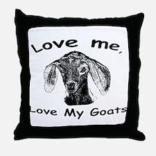 Cool Pygmy goats Throw Pillow