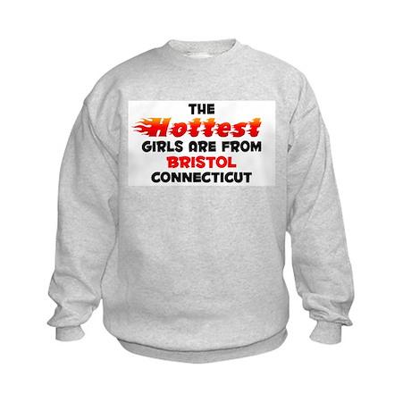 Hot Girls: Bristol, CT Kids Sweatshirt