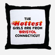 Hot Girls: Bristol, CT Throw Pillow