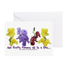 Pretty Flowers in a Row Greeting Card