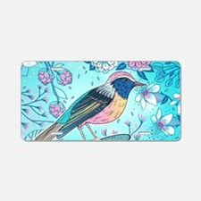 Colorful Bird Aluminum License Plate