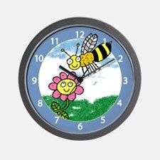 Silly Bee Wall Clock