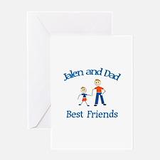 Jalen & Dad - Best Friends Greeting Card