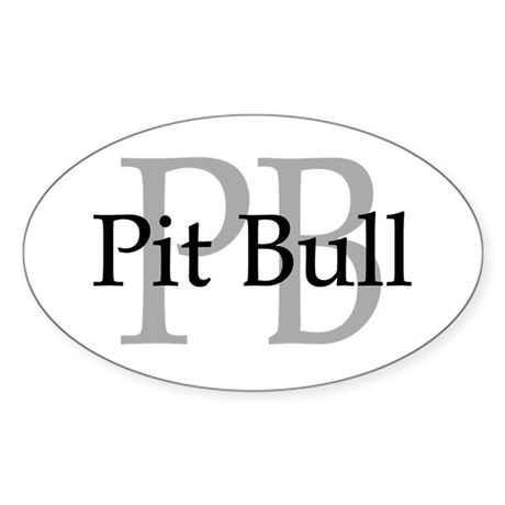Pit Bull PB Oval Sticker