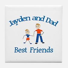 Jayden & Dad - Best Friends  Tile Coaster