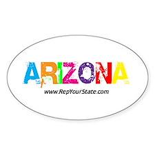Colorful Arizona Oval Decal