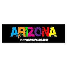 Colorful Arizona Bumper Bumper Sticker