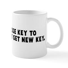 Man who lose key to apartment Mug
