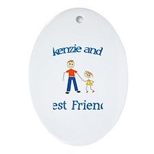 Mackenzie & Dad - Best Friend Oval Ornament