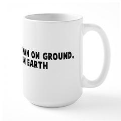 Man who lay woman on ground g Mug
