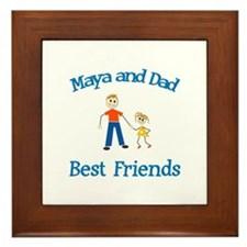 Maya & Dad - Best Friends Framed Tile