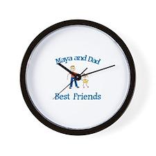 Maya & Dad - Best Friends Wall Clock