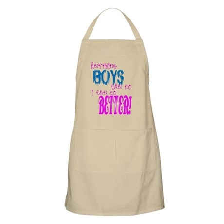 Anything boys can do... BBQ Apron