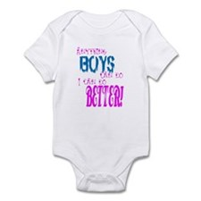 Anything boys can do... Infant Bodysuit