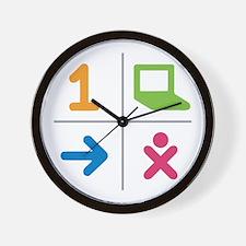 4 Square Logo No Text Wall Clock