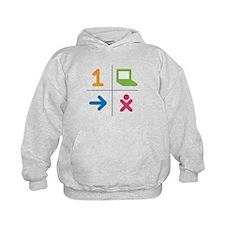 4 Square Logo No Text Hoodie