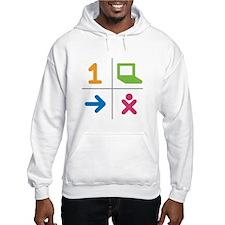 4 Square Logo No Text Hoodie Sweatshirt