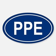 PPE Oval Decal