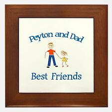 Peyton & Dad - Best Friends Framed Tile