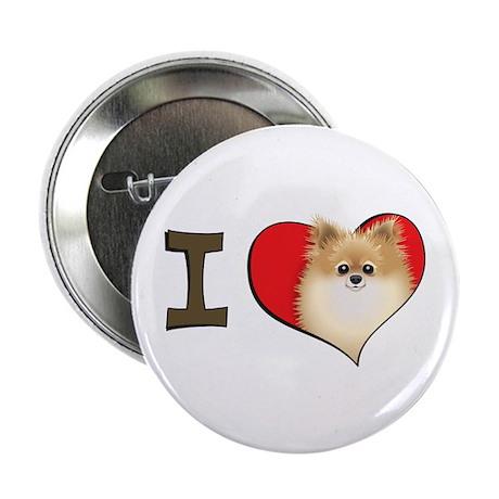 "I heart pomeranians 2.25"" Button (100 pack)"