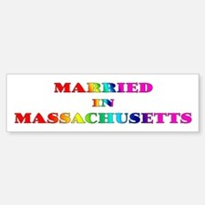 (Gay) Married in Massachusetts Bumper Bumper Bumper Sticker