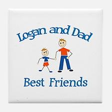 Logan & Dad - Best Friends  Tile Coaster