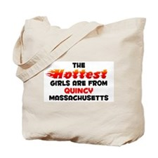 Hot Girls: Quincy, MA Tote Bag