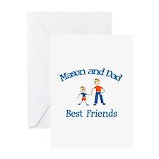 Mason & Dad - Best Friends Greeting Card