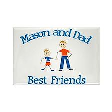 Mason & Dad - Best Friends Rectangle Magnet