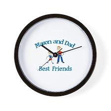 Mason & Dad - Best Friends  Wall Clock