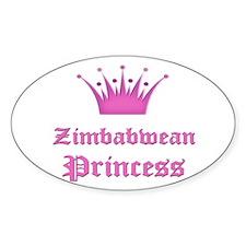 Zimbabwean Princess Oval Decal