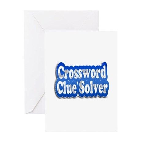 Crossword Clue Solver Greeting Card  sc 1 st  CafePress & Clue Greeting Cards Thank You Cards and Custom Cards   CafePress 25forcollege.com
