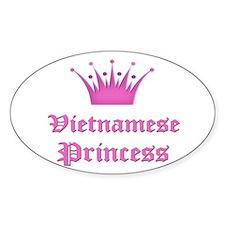 Vietnamese Princess Oval Decal