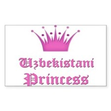 Uzbekistani Princess Rectangle Decal